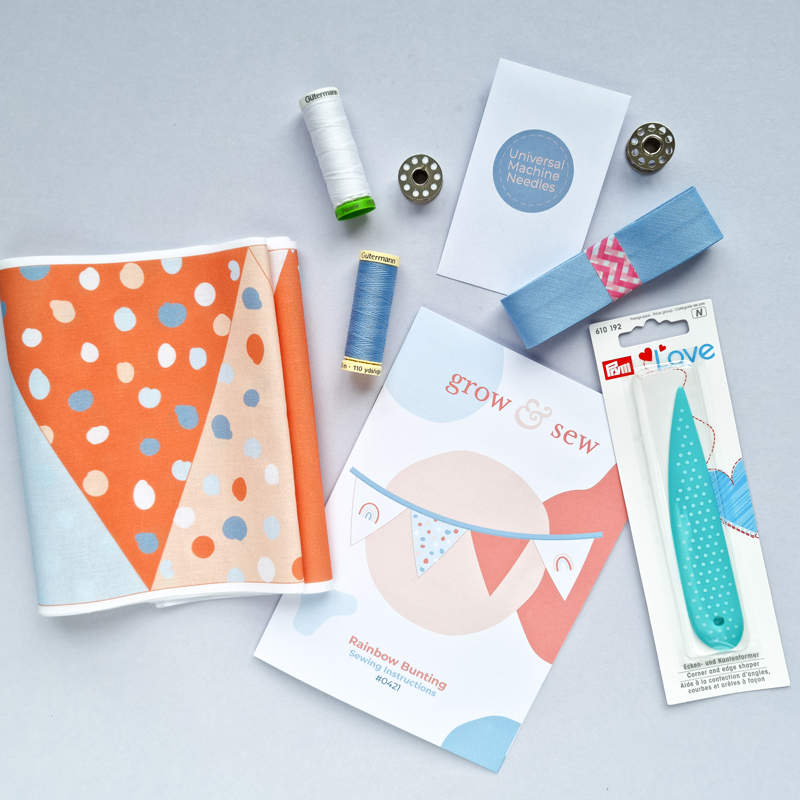 Grow-and-Sew-Rainbow-Bunting-Sewing-Kit-Subscription-Box